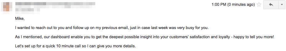 Cold Emails be coherent
