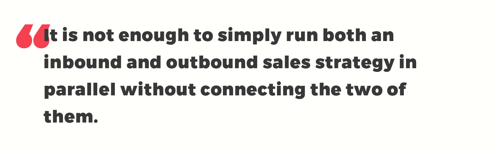 inbound and outbound sales